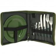Set cubiertos PLUS (600) Plato, tenedor, cuchara y cuchillo