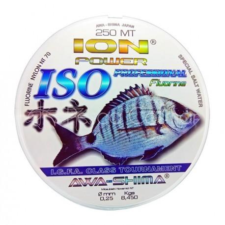 FLOUROCARBONO AZUL ISO PROFESIONAL 0,50MM 250M 34,70KG