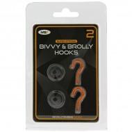 NGT Pack de 2 Ganchos Magnéticos para Bivvy