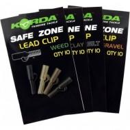 Korda Safe Zone Lead Clips – 10 pieces Weed / Verde Alga