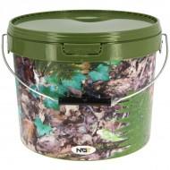 NGT Cubo de 5 L. Color camuflaje asa metal
