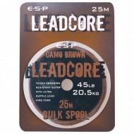ESP Leadcore Bulk CAMO BROWN 45lb/20,5kg 25m