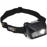 NGT Dynamic Cree Light luz cabeza - USB Recargable (200 Lumens)