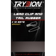 TRYBION LEAD CLIP AND TAIL RUBBER MARRON